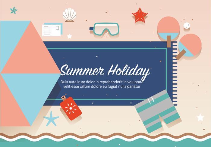 Vector de vacaciones de verano gratis