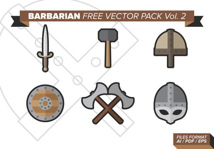 Barbaarse Gratis Vector Pack Vol. 2