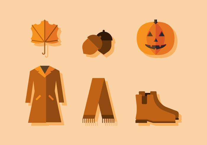 Temporada de outono vetorial