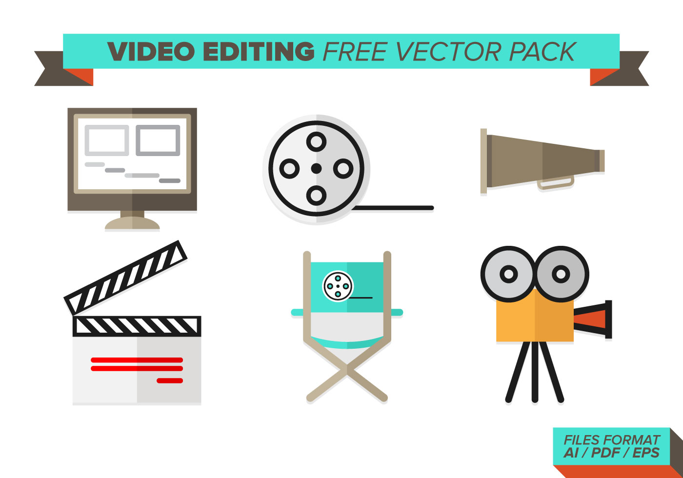 Video Editing Free Vector Pack Download Free Vector Art