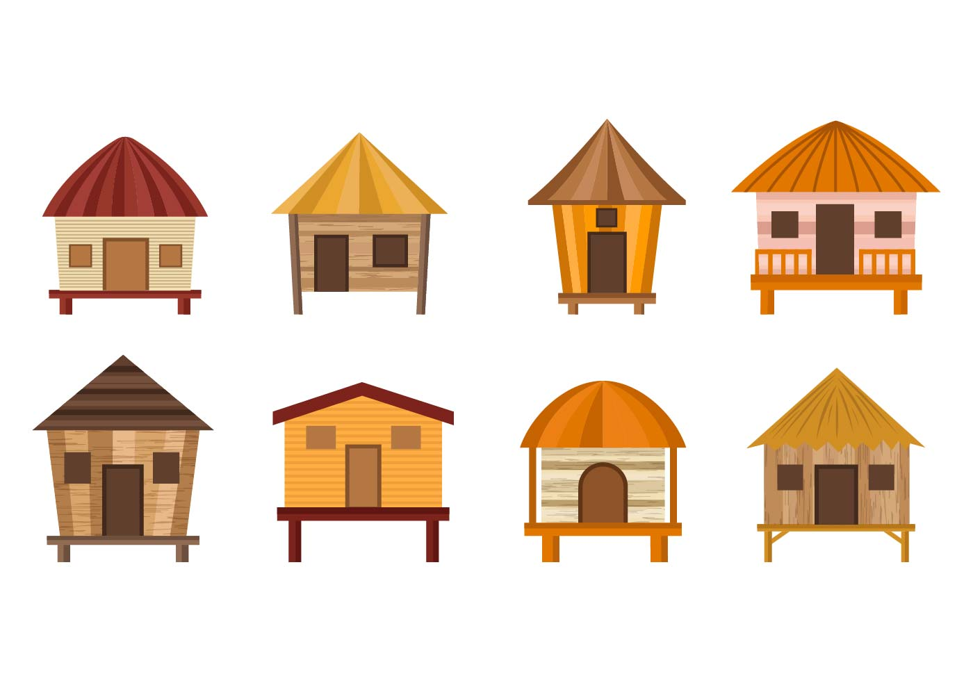 Bungalow Free Vector Art - (7523 Free Downloads)