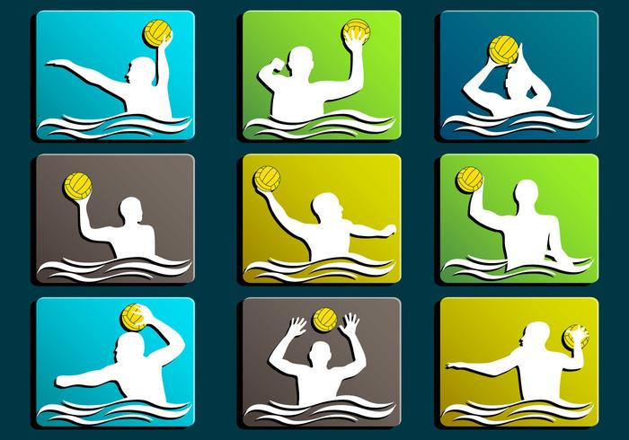 Water Polo Silhouette icon