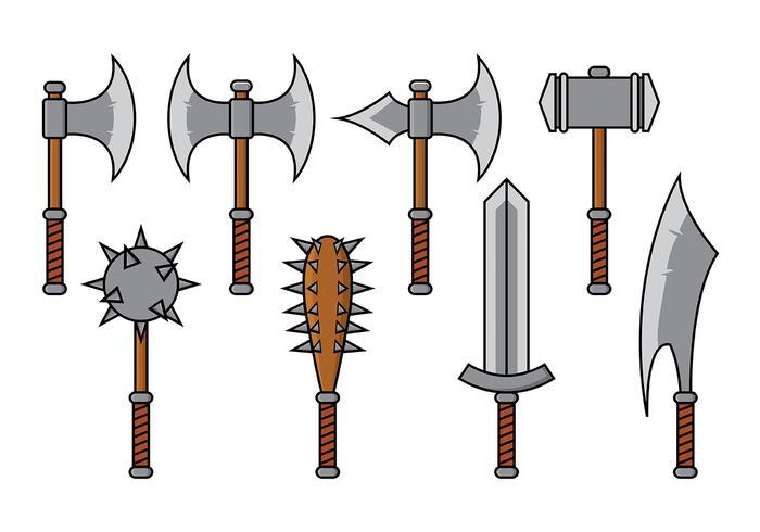 Vector de armas bárbaras