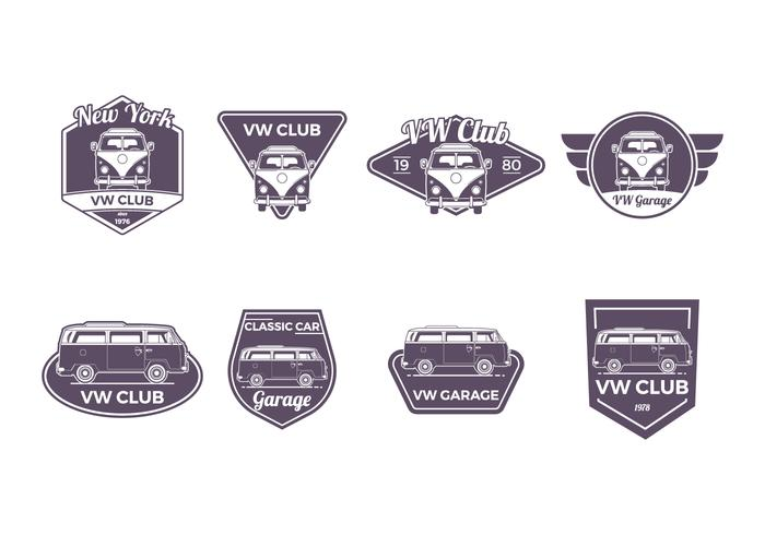 Free VW Camper Badge Vector