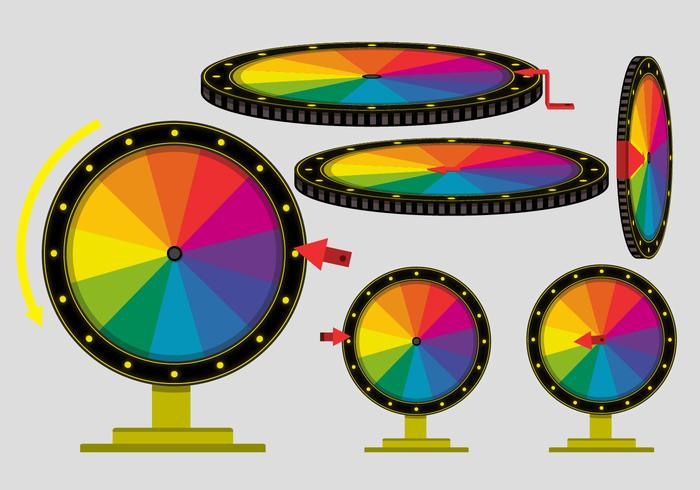 Try Your Luck Spinning Wheel Vectors