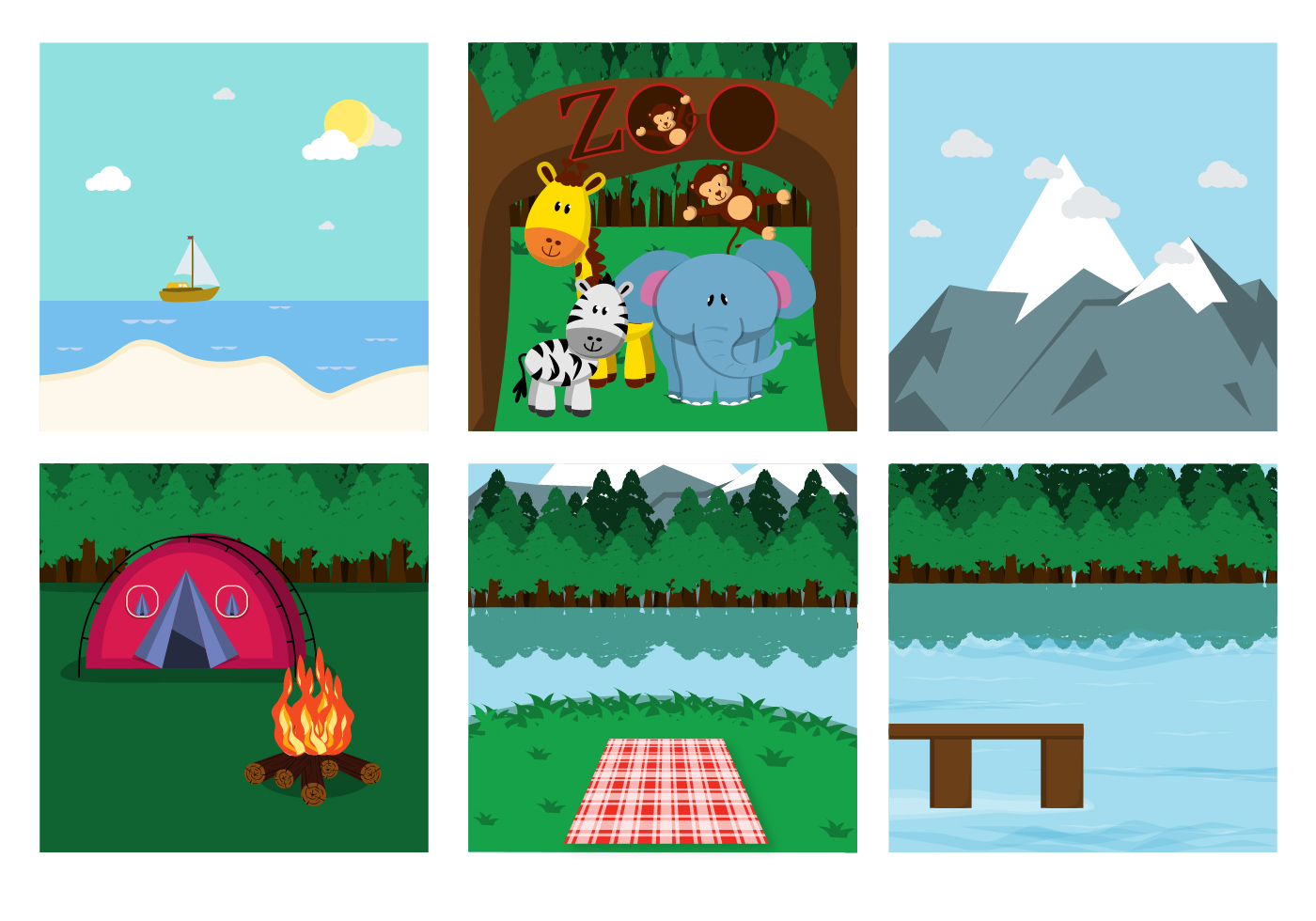 Family Picnic Place Vectors Download Free Vector Art Stock Graphics Amp Images
