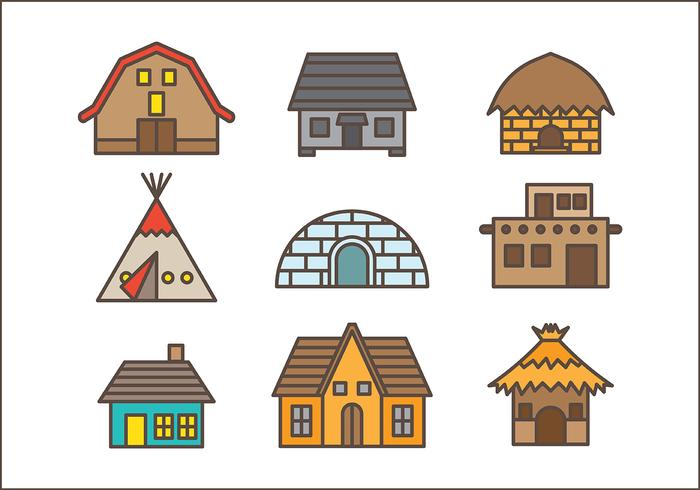 Free Shack Icons Vector