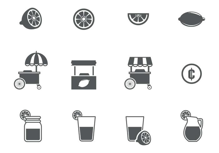 Lemonade Icons Vector