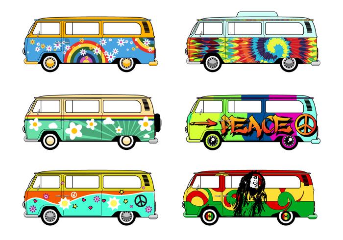 Free Hippie Bus Vector Download Free Vector Art Stock