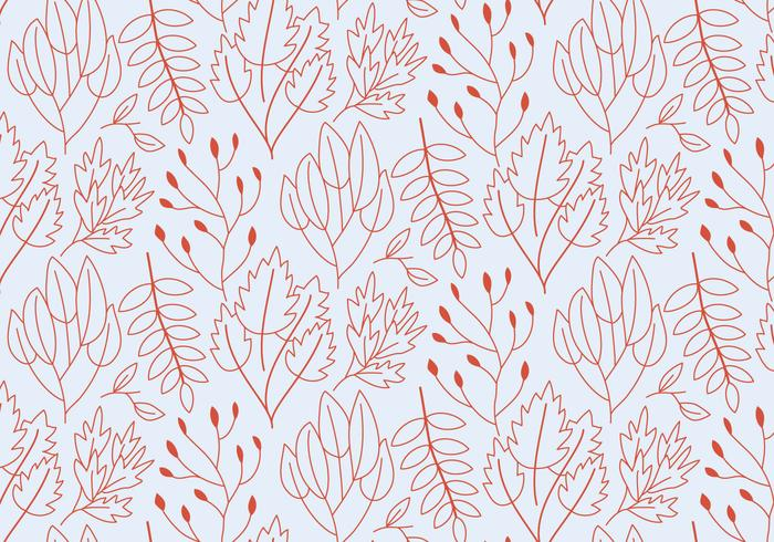 Outline Plants Pattern vector