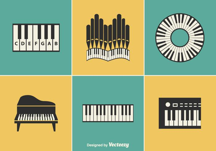 Keyboard Instrument Vector Designs