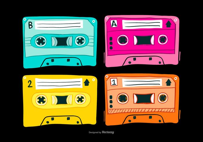 Vintage Mixtapes Vectors