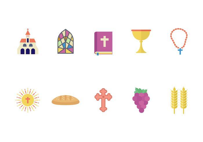 Free Eucharist Flat Icons