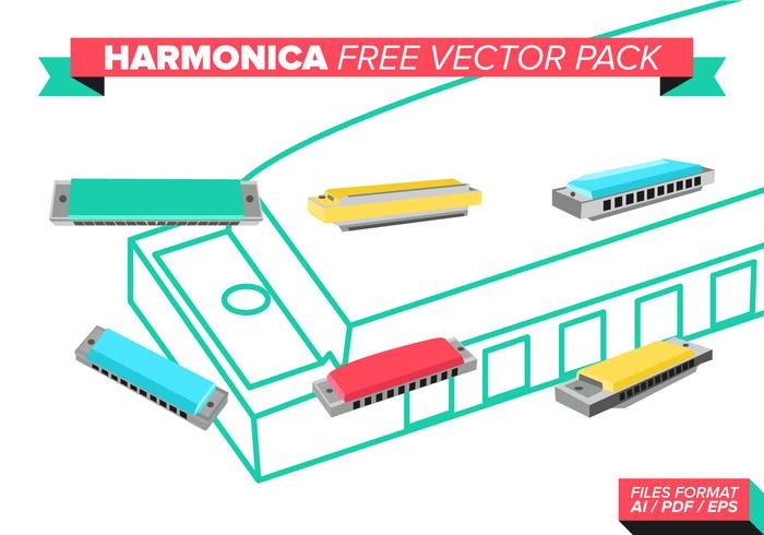 Harmonica Free Vector Pack