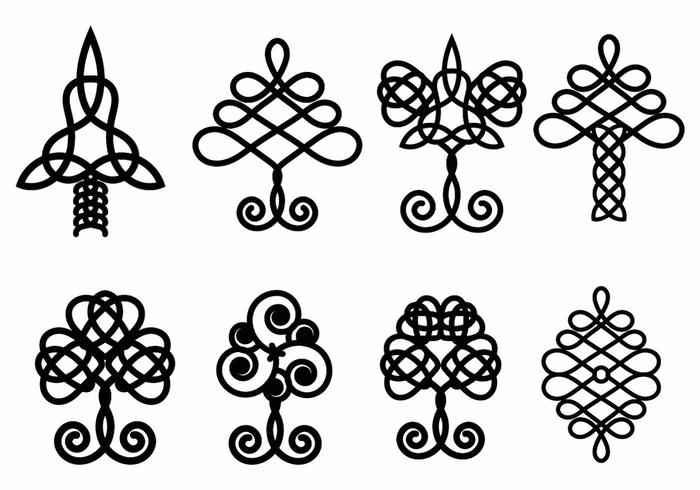 Celtic Tree Vector Set