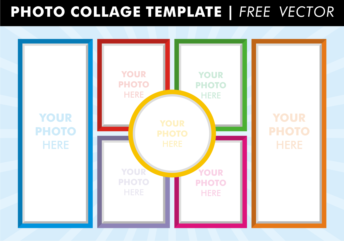 Photo Collage Templates Free Vector - Download Free Vector Art, Stock ...