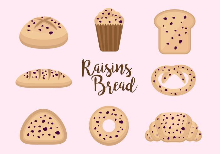 Free Raisins Bread Vectors