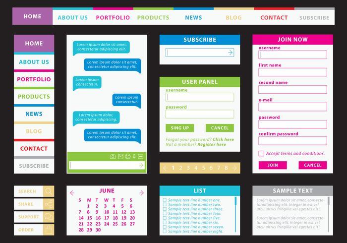 Kit Web coloré