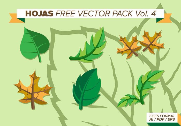 Hojas kostenlos vektor pack vol. 4