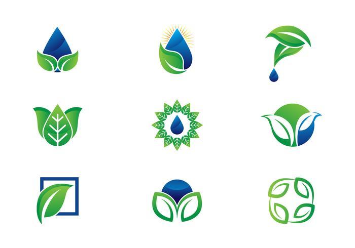Gratis Leaf / Hojas Logo Vectoren