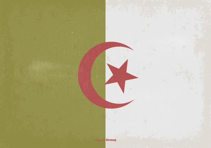 Vintage Flag of Algeria