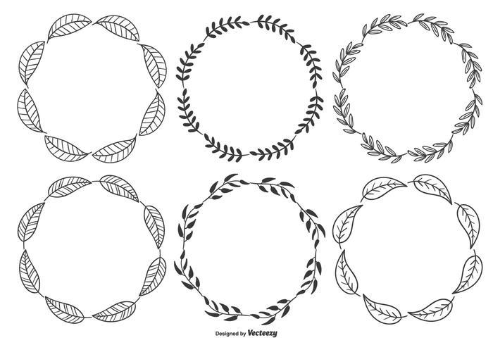 Sketchy Leaf Frames