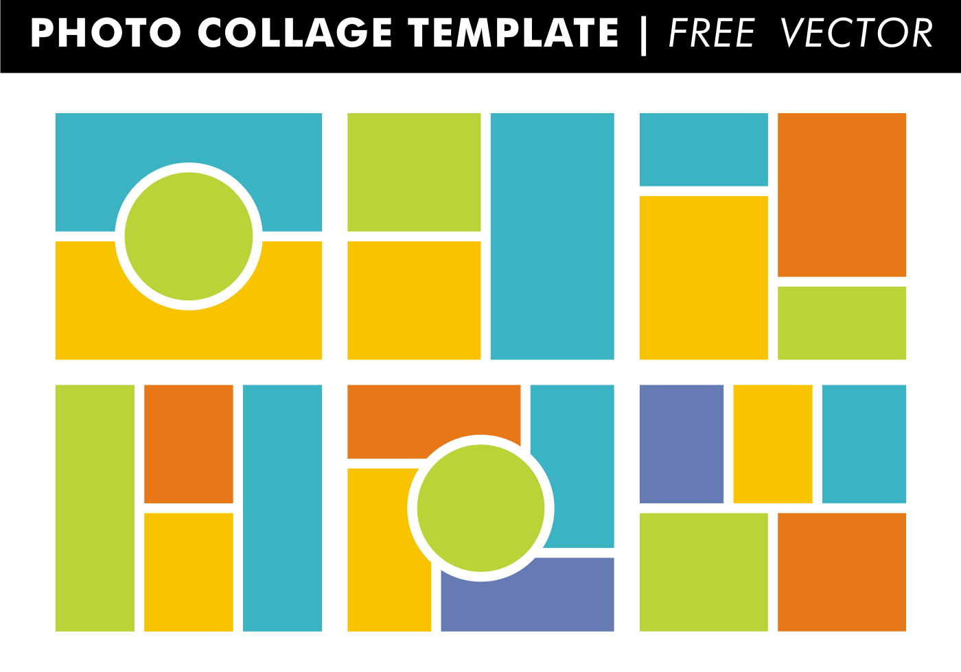 Photo collage templates vector download free vector art for Free online photo collage templates