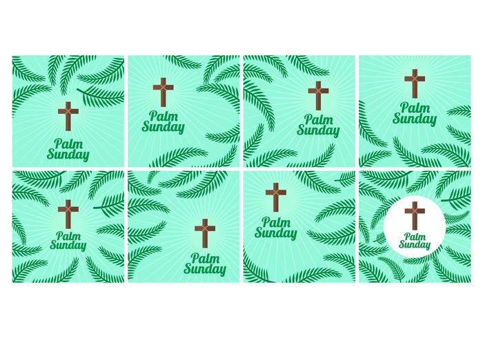 Free Palm Sunday Vector Background