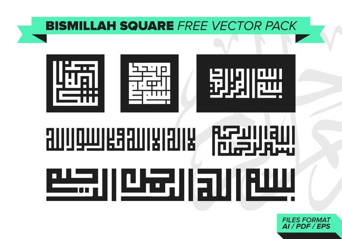 Bismillah Square Vector Pack
