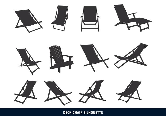 Deck Chair Silhouette - Download Free Vector Art, Stock Graphics ...