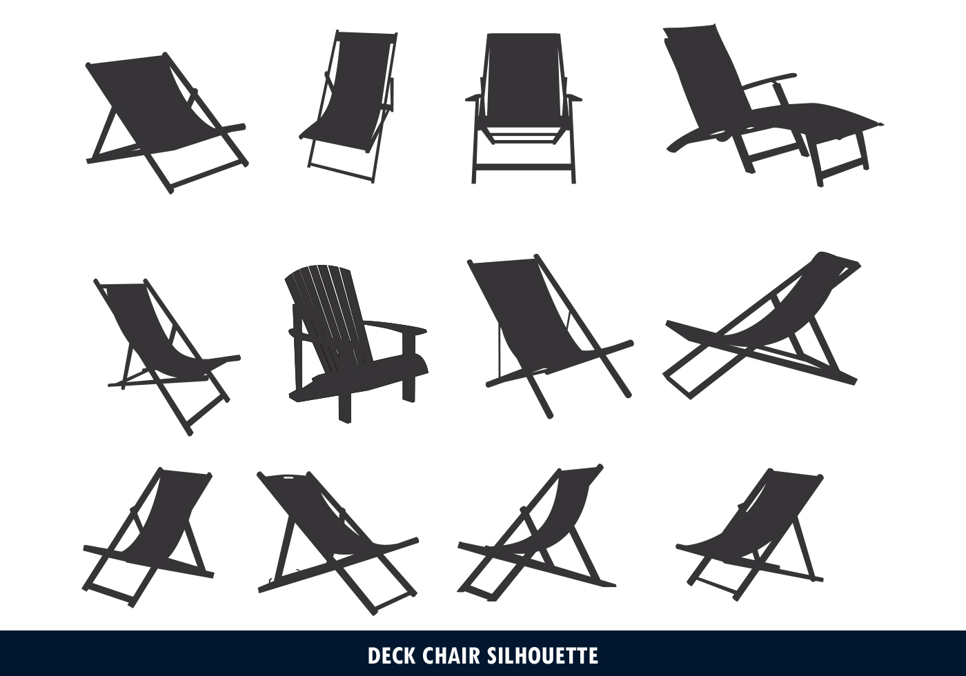 Deck Chair Silhouette Download Free Vector Art Stock Graphics