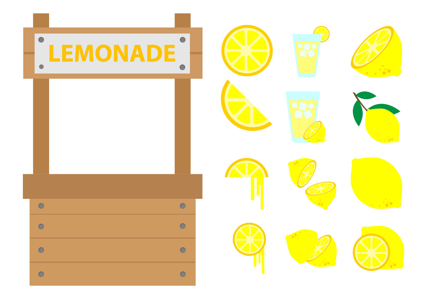 free lemonade stand vector download free vector art