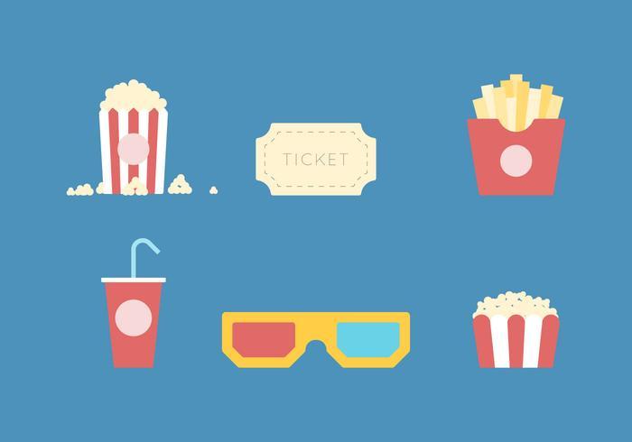 Freier Popcorn Vektor 1