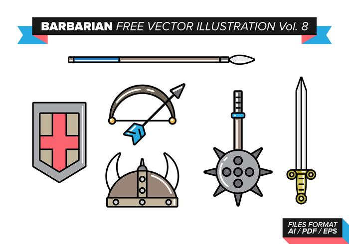 Barbarisk fri vektor illustration vol. 8
