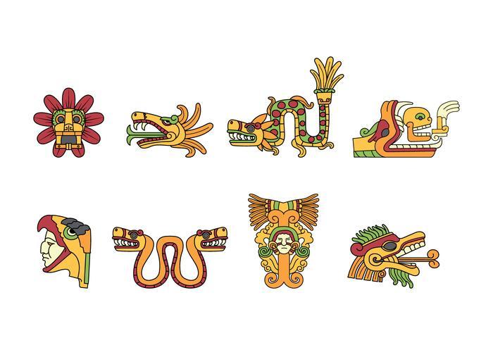 Vecteur libre de griffonnage Quetzalcoatl