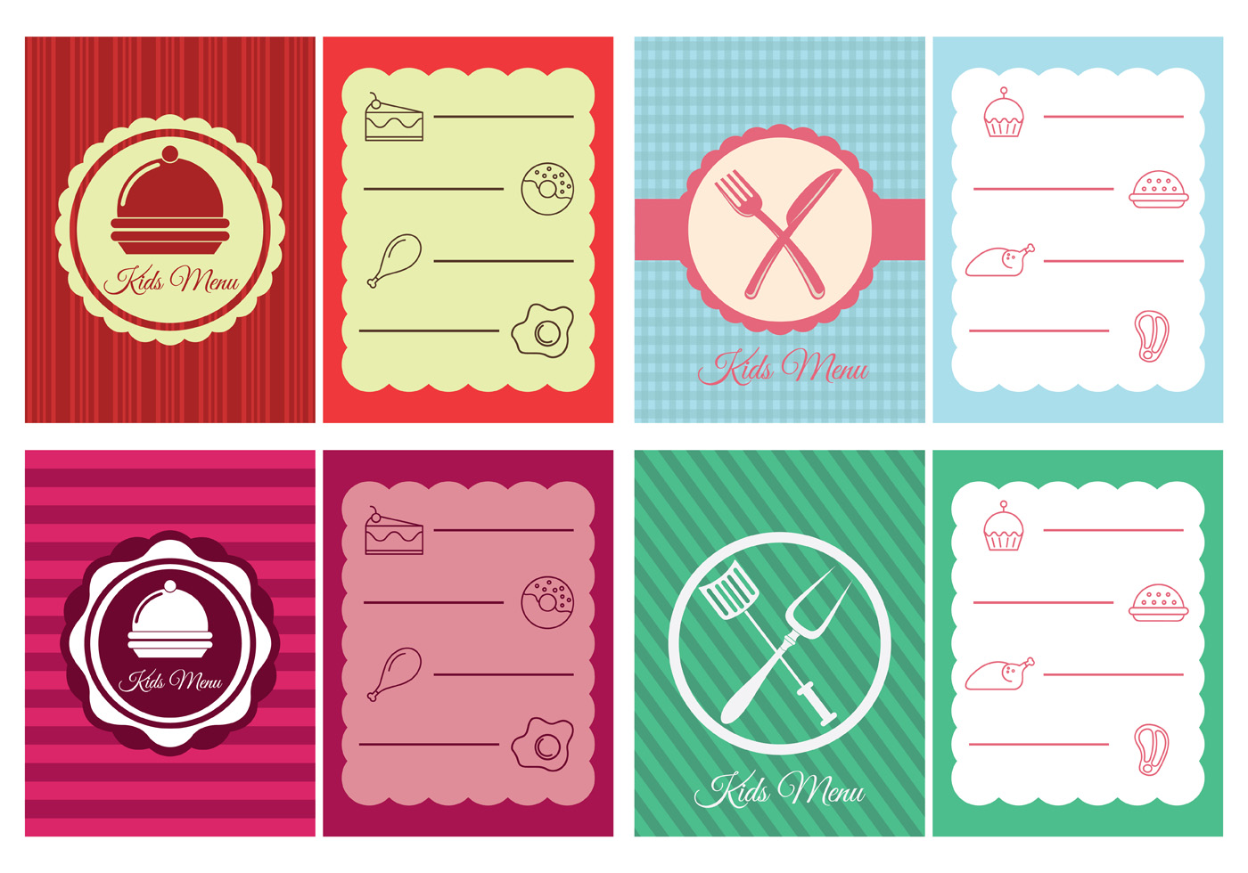 Diseño de Menú Niños - Descargue Gráficos y Vectores Gratis