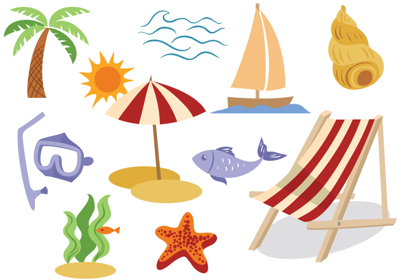 Free seaside vectors download free vector art stock for Clipart to download for free
