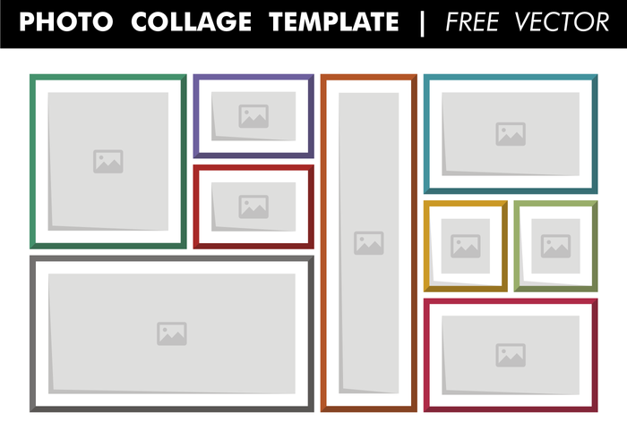 Photo collage template free vector download free vector art stock graphics images for Free collage template photoshop