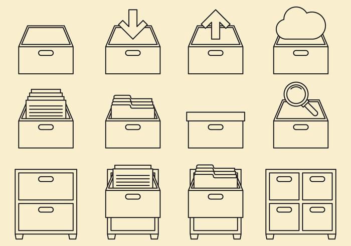 Cabinet Line Icons
