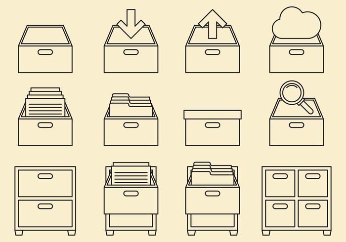 Schrank-Icons vektor