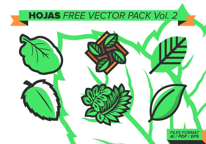 Hojas fri vektor pack vol. 2