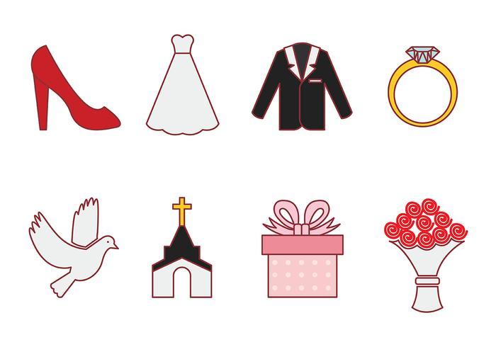 Casamento vector icoon