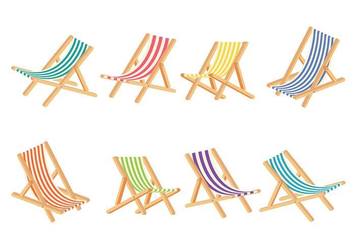 Vector silla de cubierta