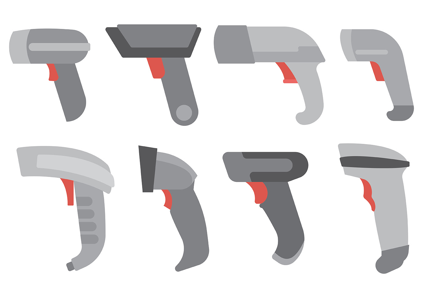 free barcode scanner icons vector download free vector