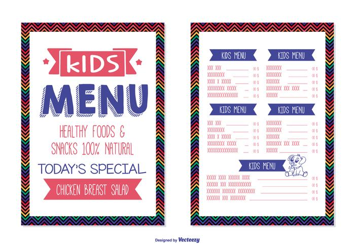 Kids Menu Template Download Free Vector Art Stock Graphics Images