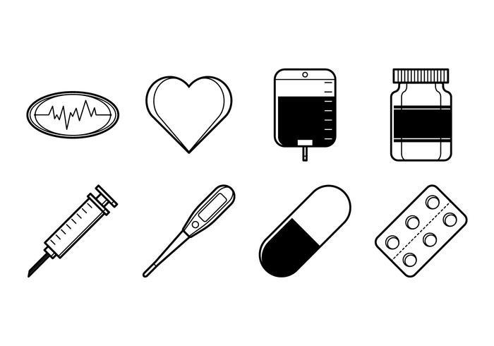 Gratis medicinsk saker ikon vektor