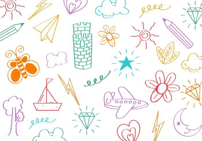 Gratis Kids Doodle Krabbel Vector