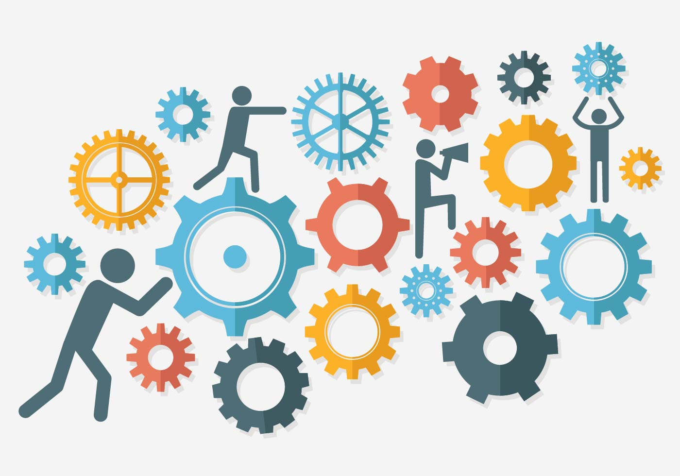 Free Working Together Illustration Vector Download Free