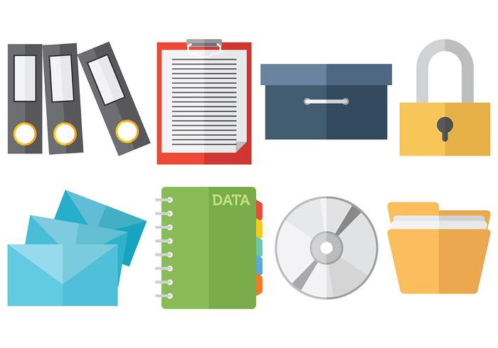 Gratis File Cabinet Icons Vector