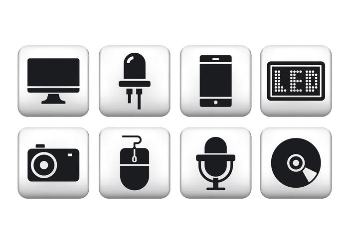 Freie Technologie Button Icons